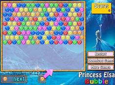 Jocuri cu Bile Bubble cu Elsa